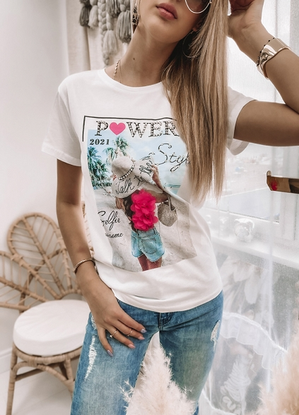 T-shirt POWER - G713 white